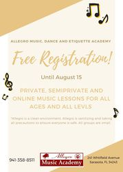 Music Lessons with FREE Registration